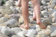 Blote voeten en pannenkoeken